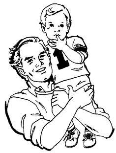 Father & Son Clipart.