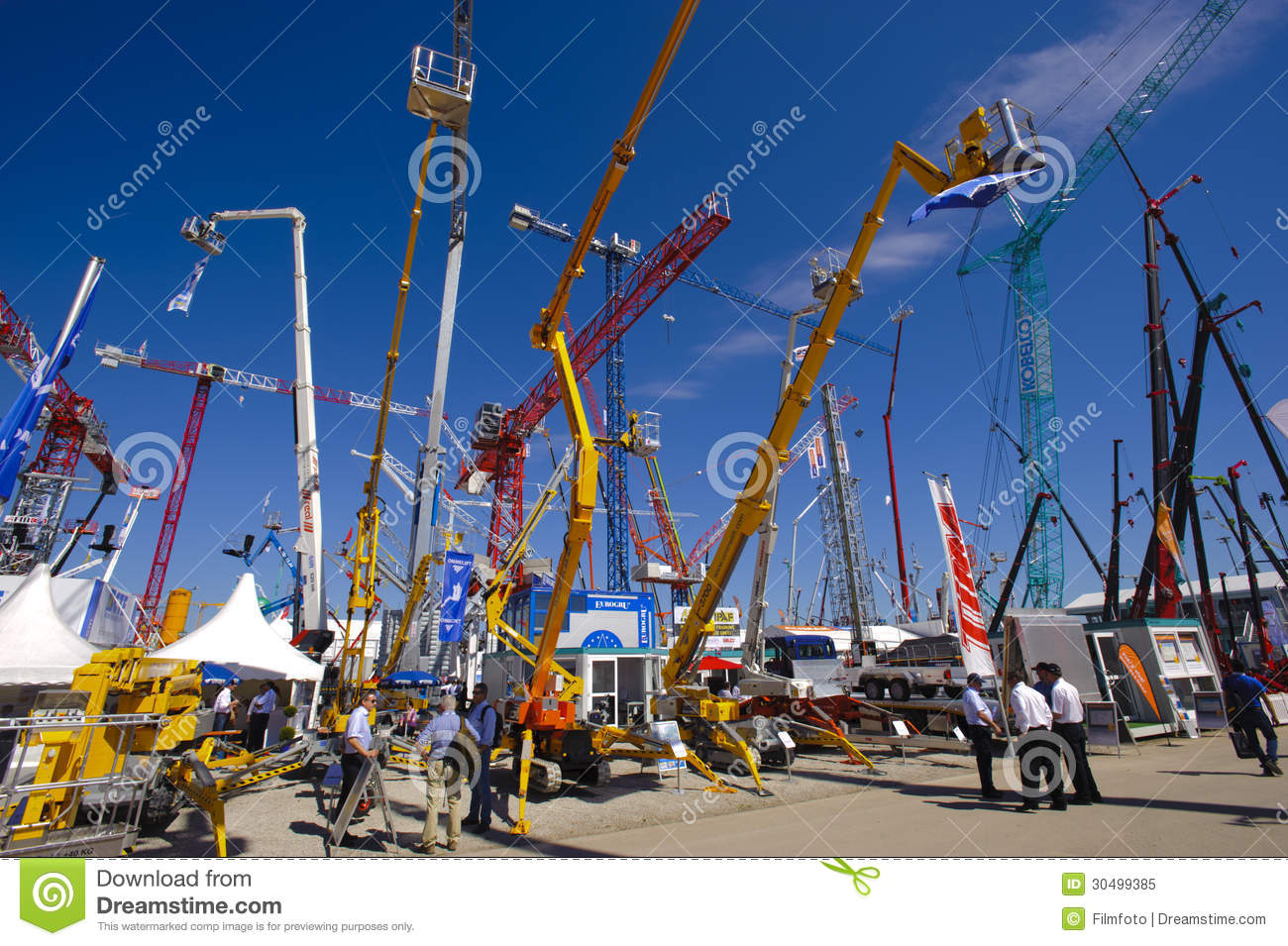 Trade Fair For Building Machines Editorial Image.