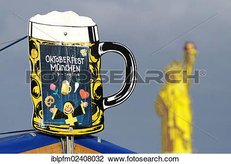 """Stock Photo of """"Oktoberfest beer advertisement with imitation of."""