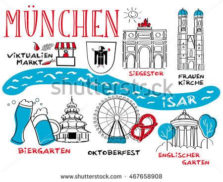 Landmarks United Kingdom Vector Colorful Cartoon Stock Vector.