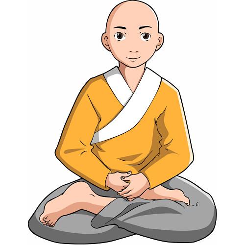 Monk clip art.