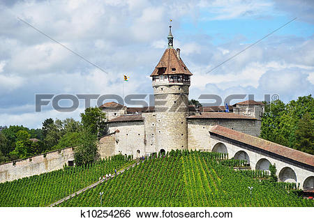 Stock Images of Munot fortress. Schaffhausen, Switzerland.