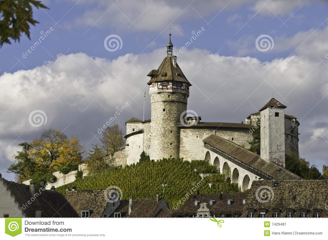 Munot Castle In Switzerland Stock Image.