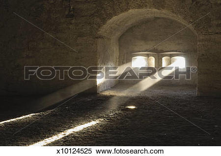 Stock Image of Switzerland, Schaffhausen, Light through Munot.