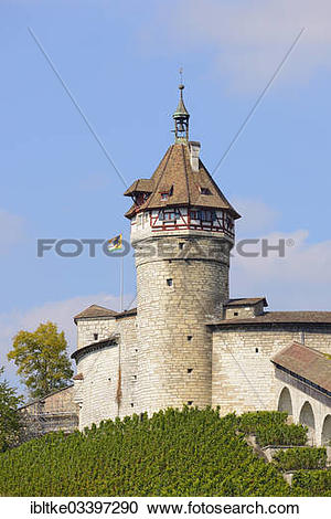 "Stock Photography of ""Munot Fortress, Altstadt Schaffhausen."