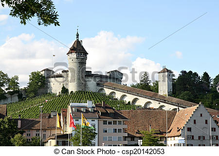 Stock Images of Munot fortress. Switzerland.