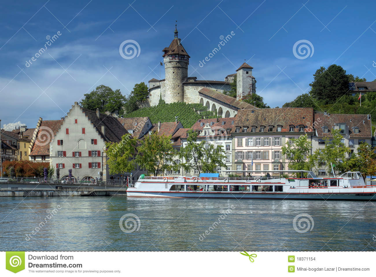 The Munot, Schaffhausen, Switzerland Stock Images.