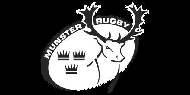 Munster Rugby Crest Logo Sports Team ROI KS2 Black and White RGB.