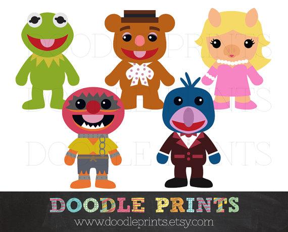 The Muppets Digital Clip Art Printable Images by doodleprints.