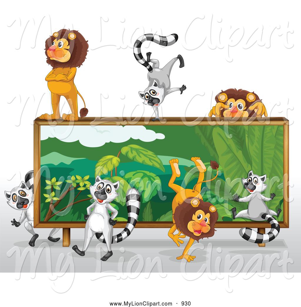 Safari mural clipart.