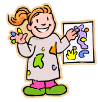 Painting a Mural Clip Art.