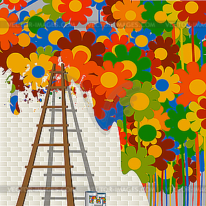Clip Art Artist Mural Painting.