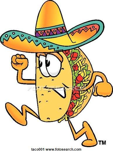 Clipart of taco running Taco001.