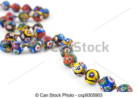 Stock Photos of murano glass colourful necklace.