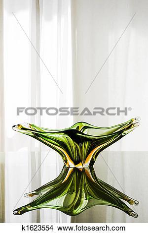 Stock Photo of Green Murano Glass Plate k1623554.