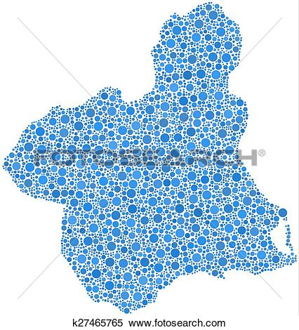 Clipart of Isolated map of Murcia k27465765.