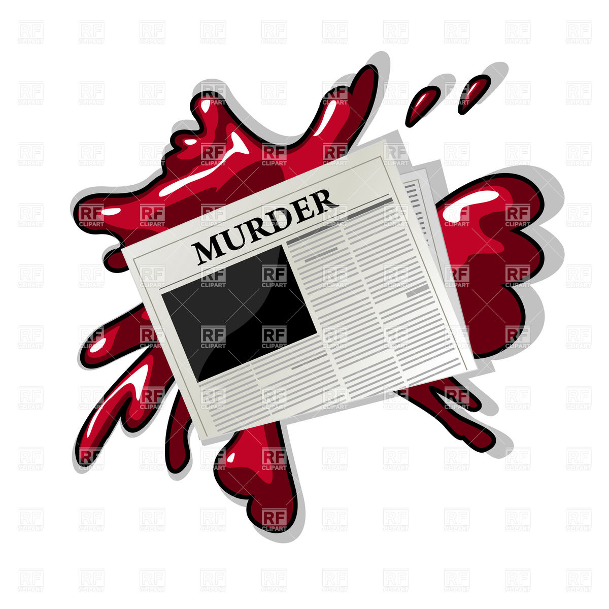 Murder Clipart Page 1.