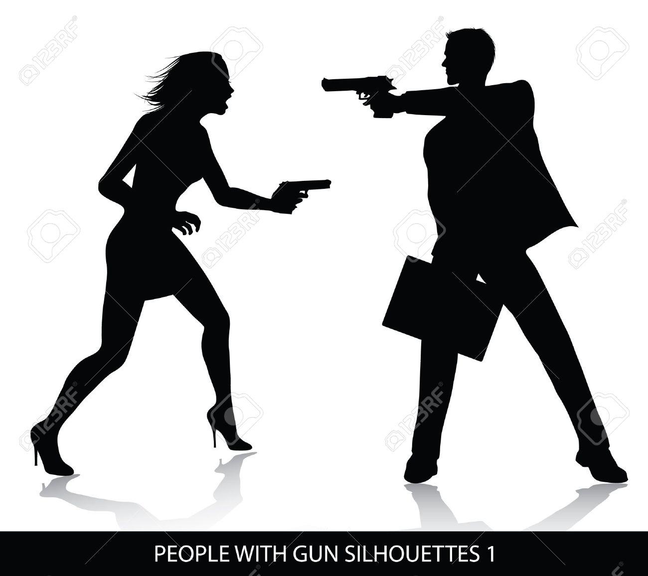 Murder silhouette clipart.