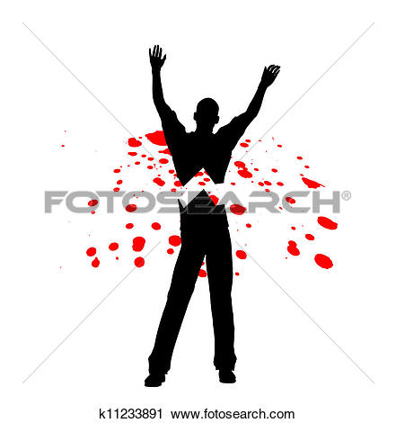 Clipart of Murdered In Cold Blood k11233891.