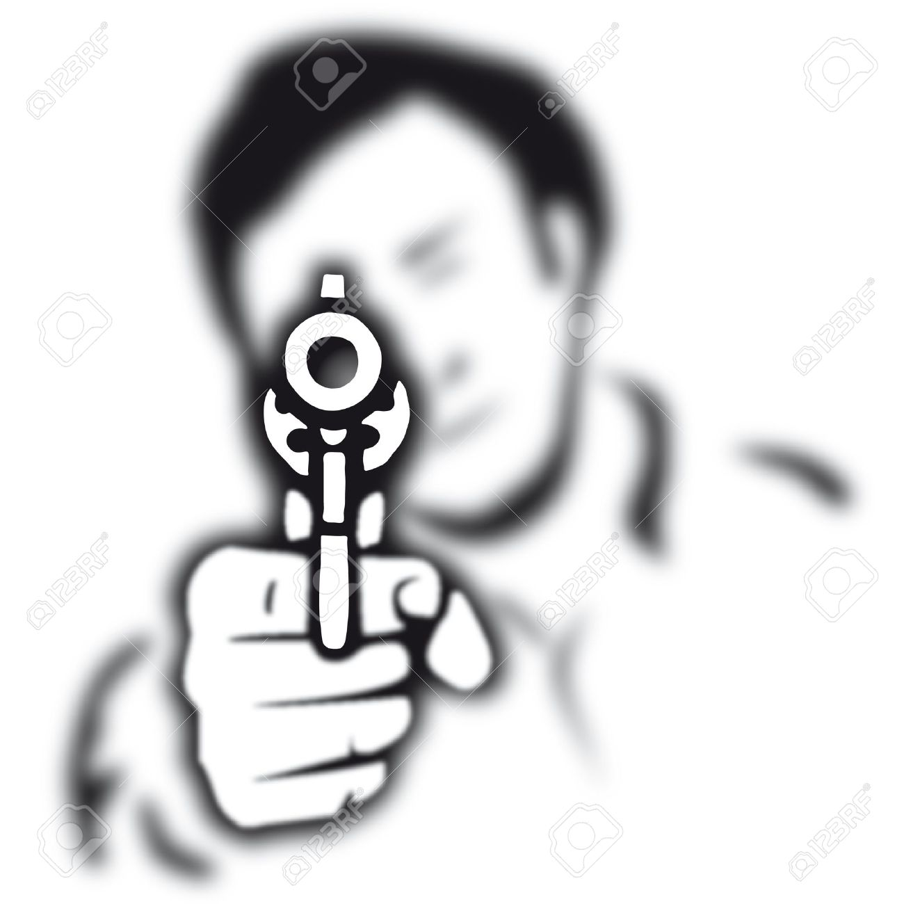 Images For > Gun Murder Clipart.