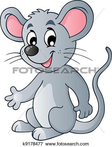 Clip Art of Cute cartoon mouse k9178477.