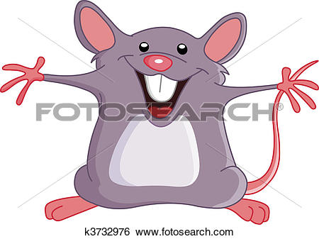 Clip Art of Happy mouse k3732976.