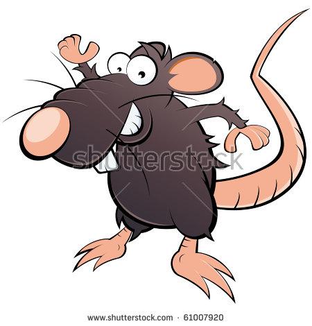 Scared Cartoon Rat Vector Clip Art Stock Vector 132419261.