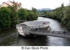 Stock Image of Murisnel island in Graz.