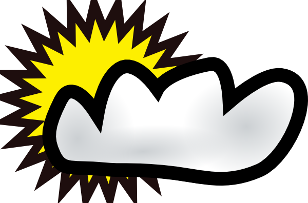 Partly cloudy partly sunny clipart.