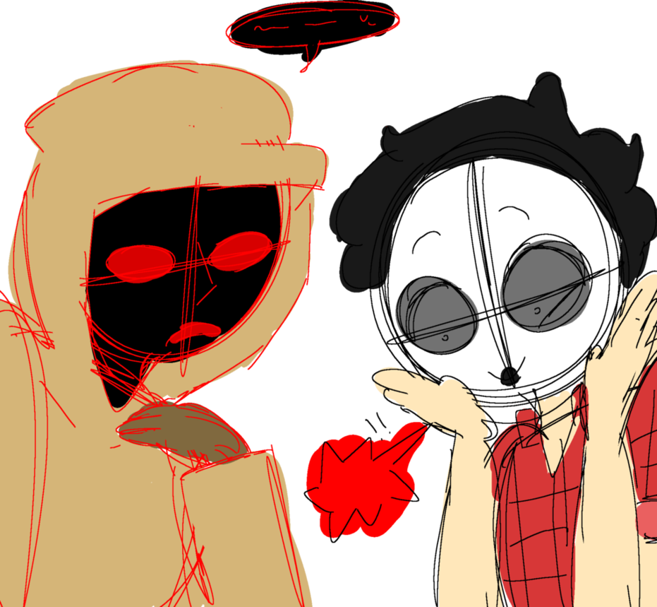 Hoodie's Murmuring And Masky's Screaming by sundayfluff on DeviantArt.