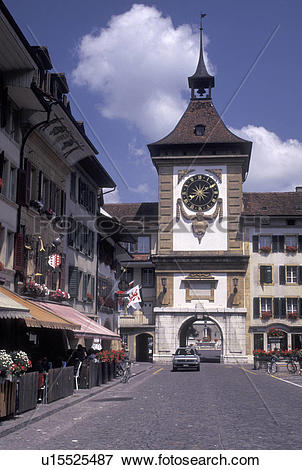 Picture of Fribourg, Switzerland, Murten/Morat, The Bern Gate with.