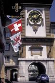 Stock Photo of Murten/Morat, Switzerland, Fribourg, The Bern Gate.