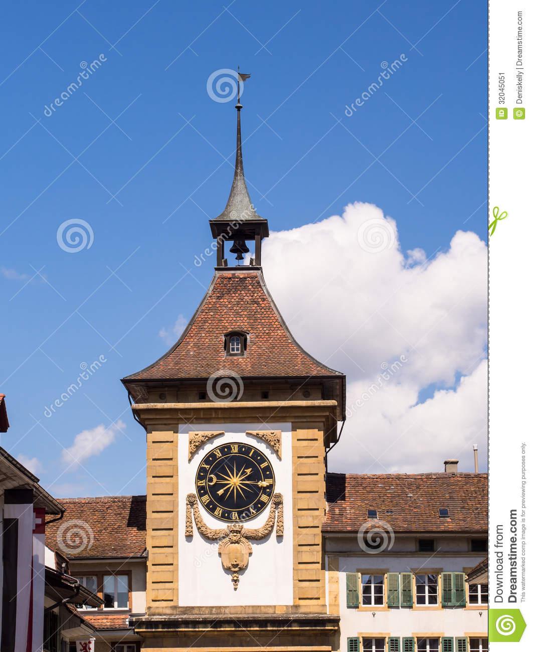 Bern Gate In Murten, Switzerland Stock Image.