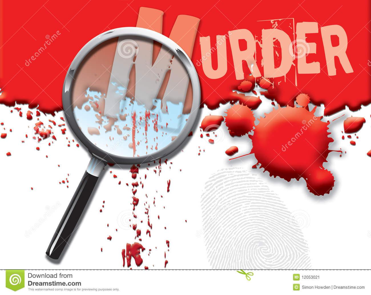 Murder Stock Illustrations.