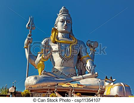 Stock Photography of Statue of Lord Shiva in Murudeshwar Temple in.
