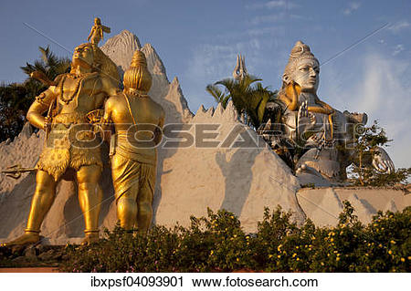 Stock Photography of Giant statue of Lord Shiva, Murudeshwar.