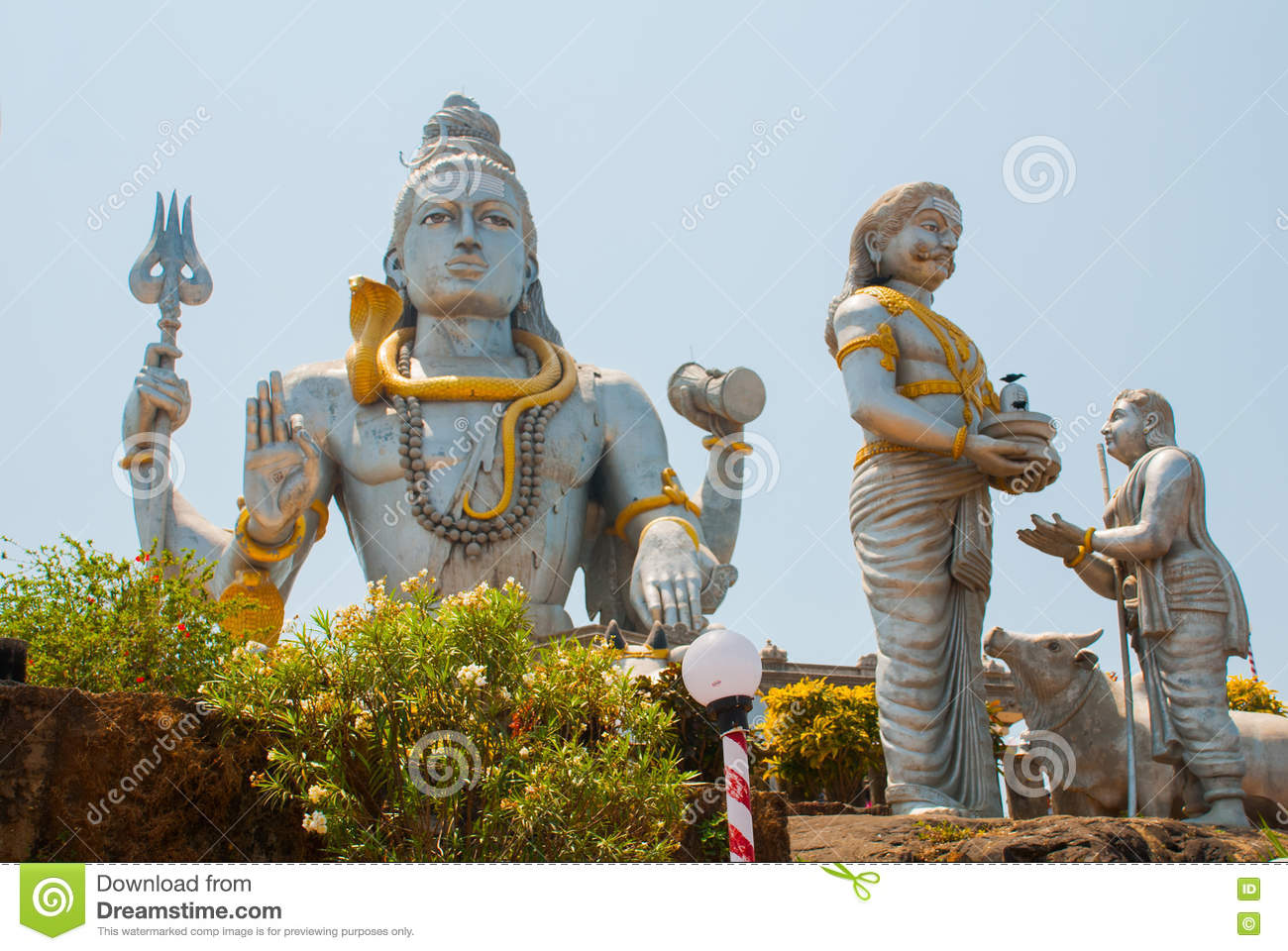 Statue Of Lord Shiva In Murudeshwar. Temple In Karnataka, India.