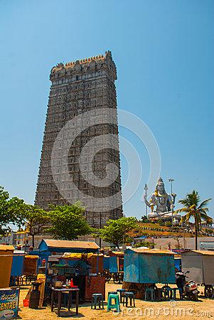 Statue Of Lord Shiva In Murudeshwar Temple Editorial Image.
