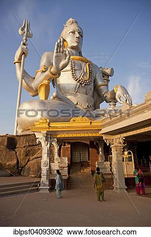 Stock Photo of Giant statue of Lord Shiva, Murudeshwar Temple.