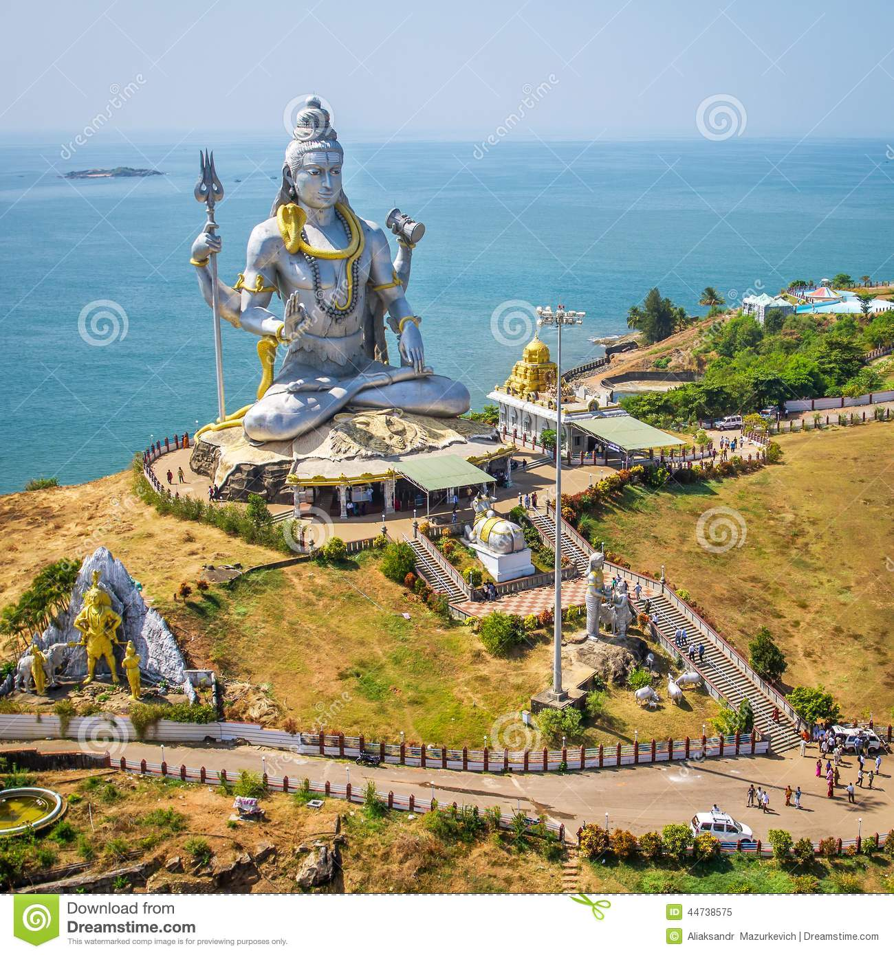 Statue Of Lord Shiva In Murudeshwar Temple Royalty Free Stock.