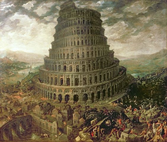 the great tower of babel was built under nimrod's rule.
