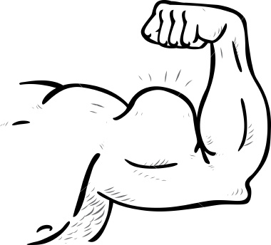 Free Muscles Clipart Black And White, Download Free Clip Art.
