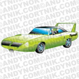 Car Clip Art 1970 Plymouth Superbird.
