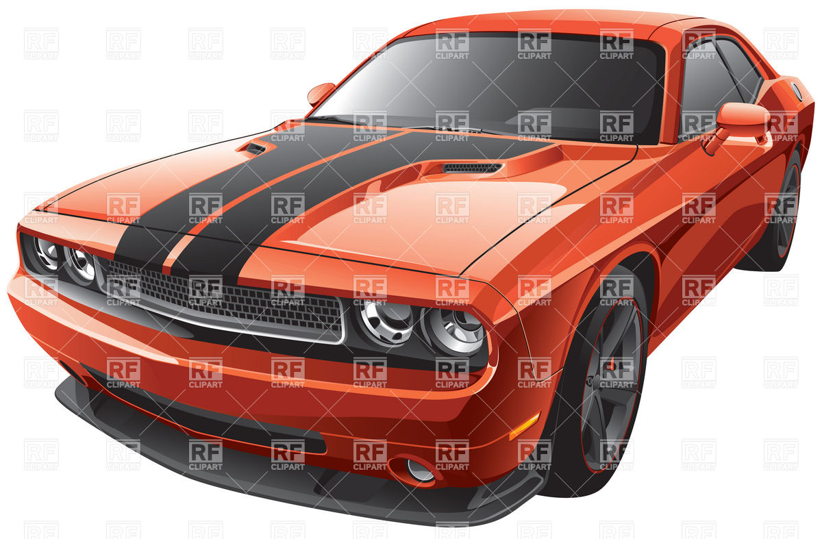 Modern muscle car Stock Vector Image.