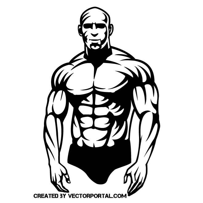 MUSCULAR GUY VECTOR GRAPHICS.