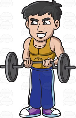 musculalr man workout clipart clipground