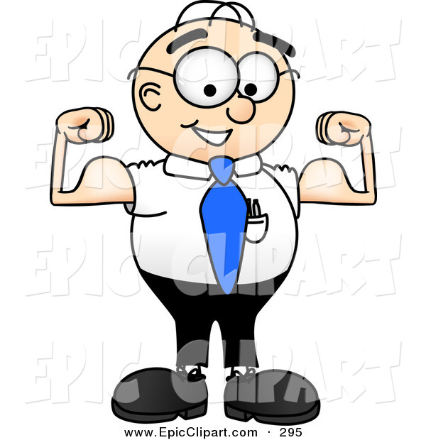 Muscular man clip art.