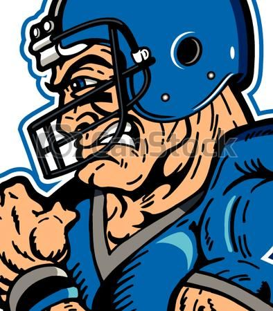 Clip Art Vector of football player.