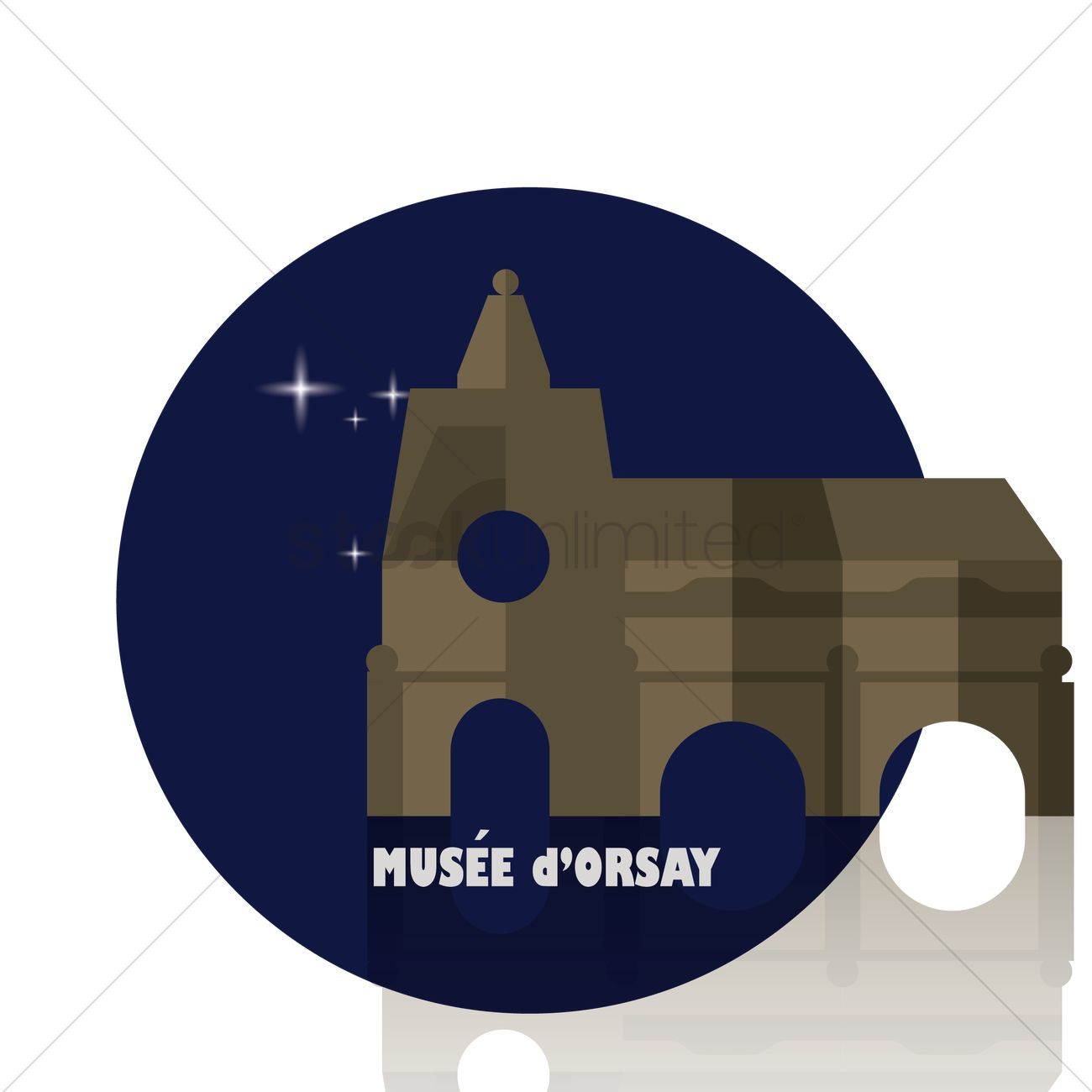 Musee d'orsay Vector Image.