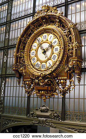 Stock Photography of France Paris Musee d Orsay The Great Clock.